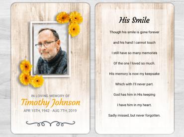 Memorial Prayer Card 2049