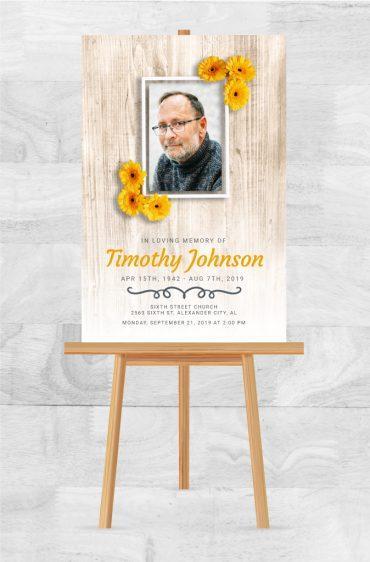 Funeral Program Memorial Poster 2049