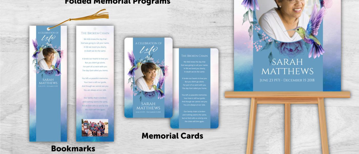 Funeral Program combo pack 2050