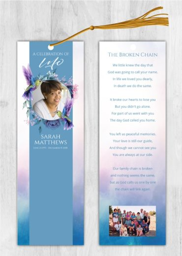 Funeral Bookmark 2050
