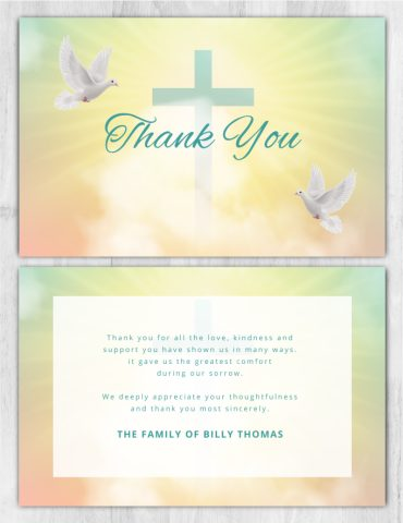 Thank you card 2051