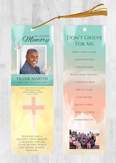 Funeral bookmark 2051