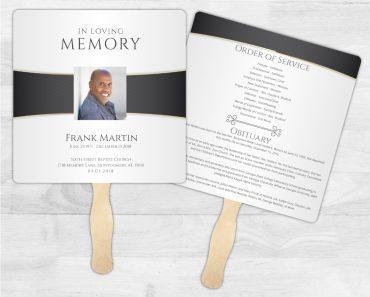 Funeral Program Memorial Fan 2001