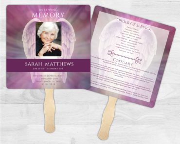 Funeral Program Memorial Fan 2006