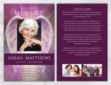 Funeral Program Memorial No Fold 2006