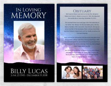Funeral Program Memorial No Fold 2009
