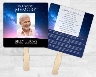 Funeral Program Memorial Fan 2009