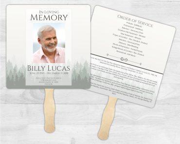 Funeral Program Memorial Fan