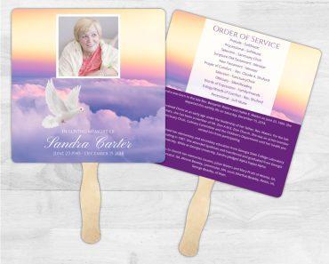 Funeral Program Memorial Fan 2012