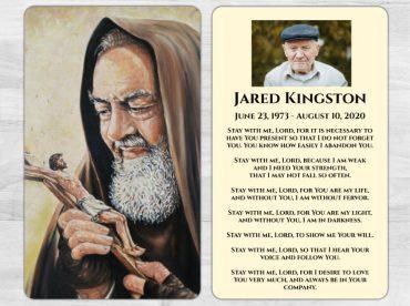 Memorial Prayer Card 1038