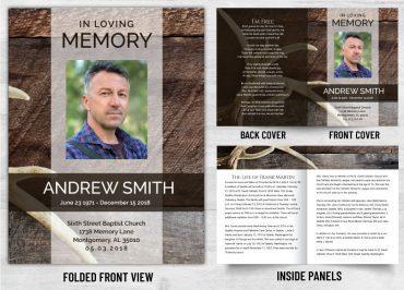 Memorial Prayer Card 1087