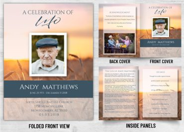 Memorial Prayer Card 2037