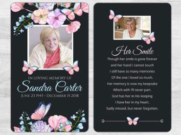 Memorial Prayer Card 2055