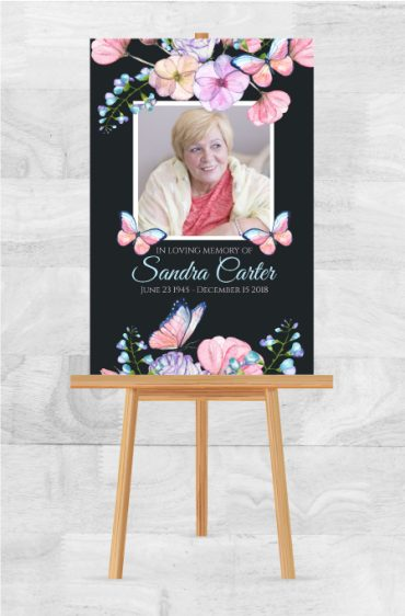Memorial Service Poster To Remember A Loved One