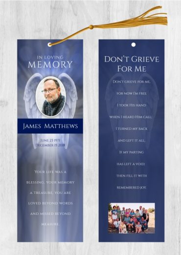 Custom Bookmarks For Memorial Services