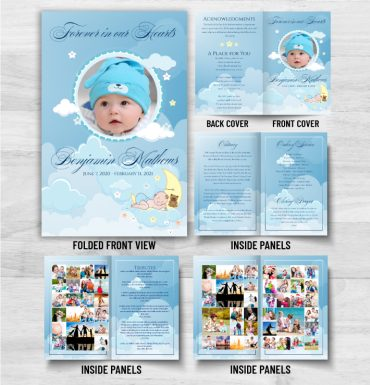 Forever In Our Hearts Obituary Pamphlet